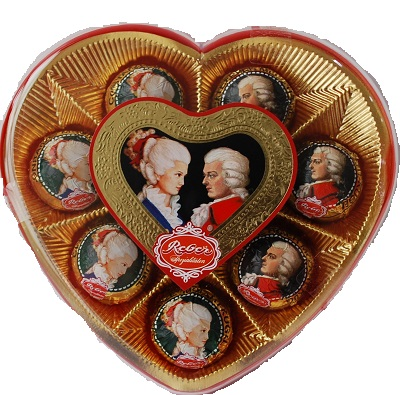 346- Mozart Kugel Heart Shape 160g Image