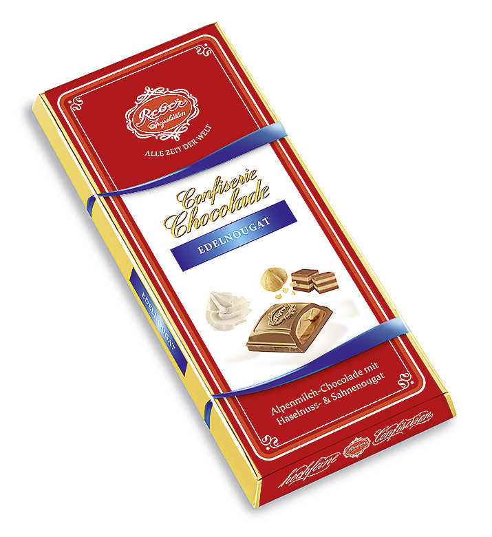 4004- Reber Chocolate Bar Nougat 100g Image