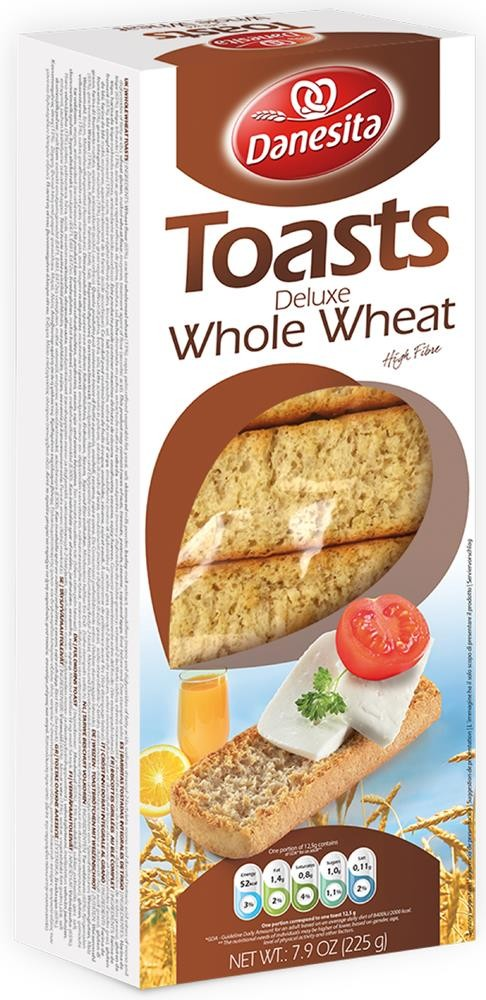 Danesita Deluxe Toasts Whole Wheat 225g Image