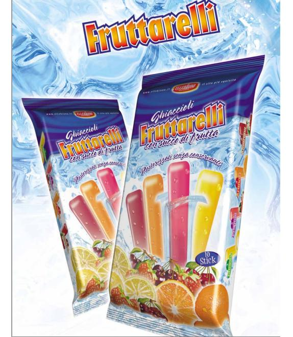 Frutarelli Ice Freeze Pops 10pcs pack Image