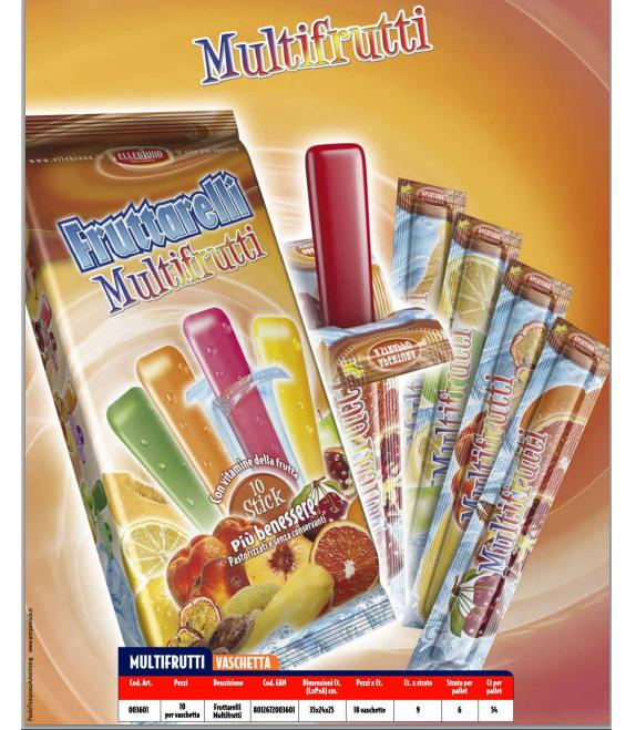 Multifrutti Ice Freeze Pops 10pcs pack Image