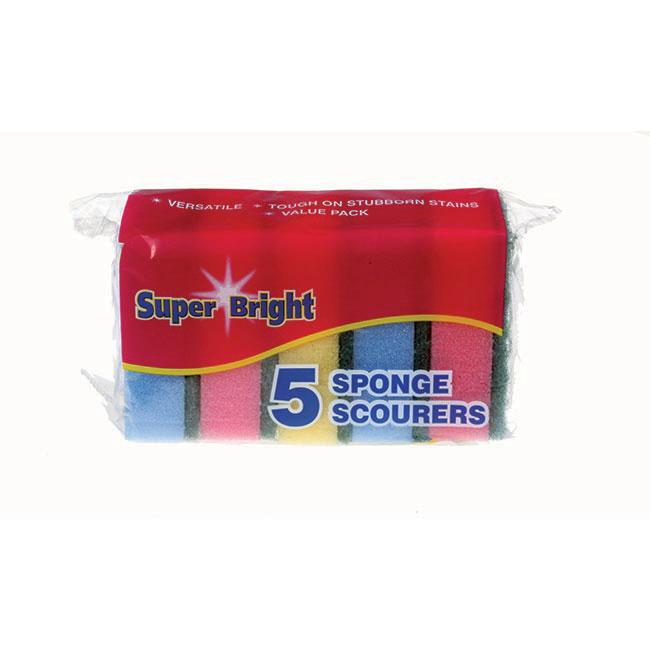 Superbright Sponge Scourer 5pk Image