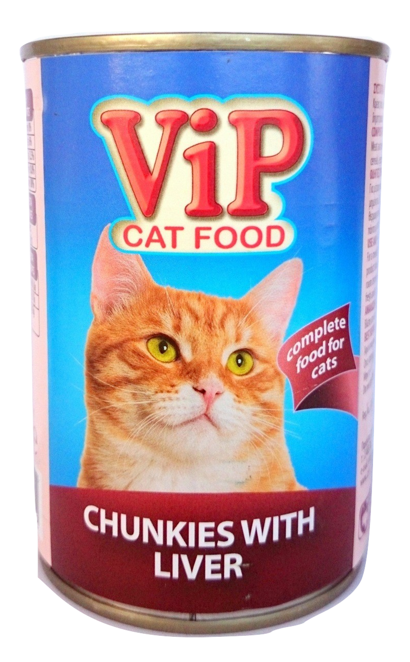 VIP Cat Food can 415gr Liver Image