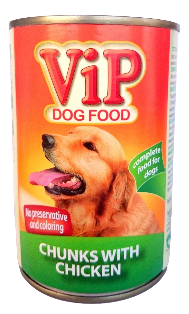 VIP Dog Food can 415gr Chicken Image