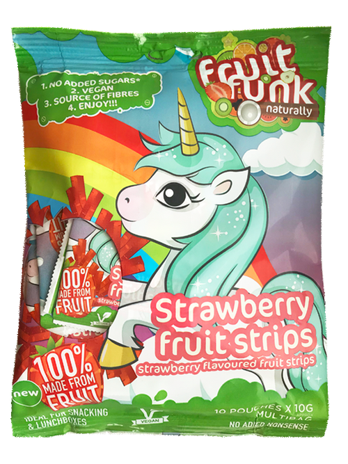 School Fruit Strips bag Unicorn - Multibag of 10 pieces Image